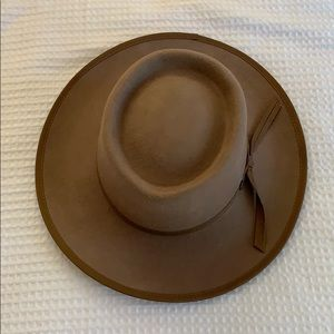Tan Wide Brim Fedora